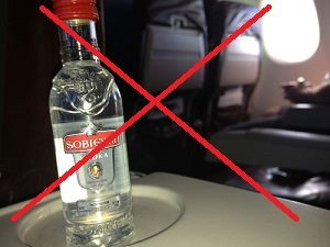 use no alcohol plane