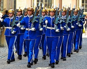 Changing of the Guard, Royal Palace, Gamla Stan, Stockholm, Swed