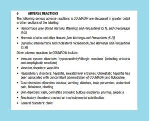 use warfarin cold