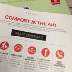 Exercise during flights – airline's advice